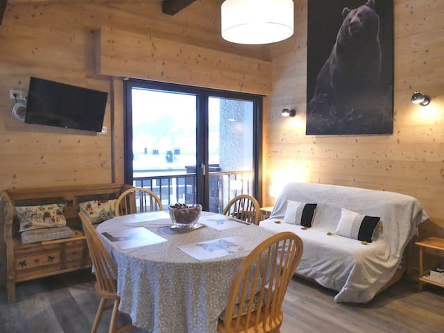 Sapaudia G - Apartment for 5 people 2*, ski on the feet, nice view