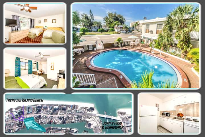 Boutique Beach Retreat, Heated Pool, 2 Private Rms