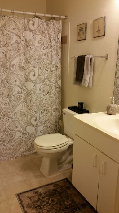 Your own bathroom for privacy.