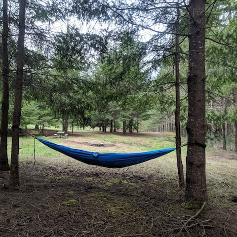 Enjoy the hammock for you or you and a friend