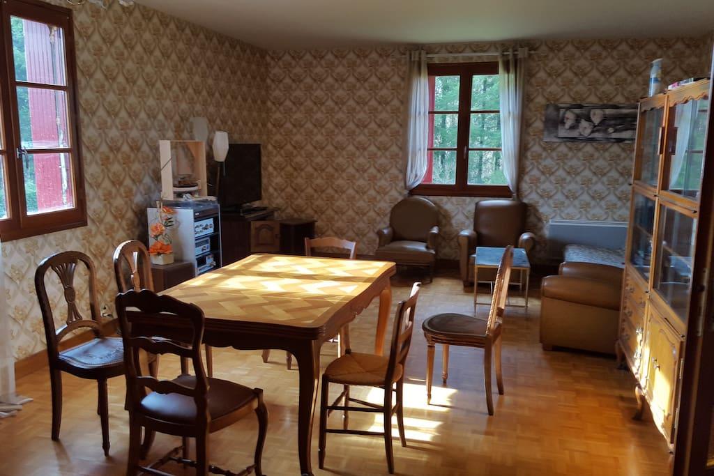grand salon pouvant accueillir une grande famille
