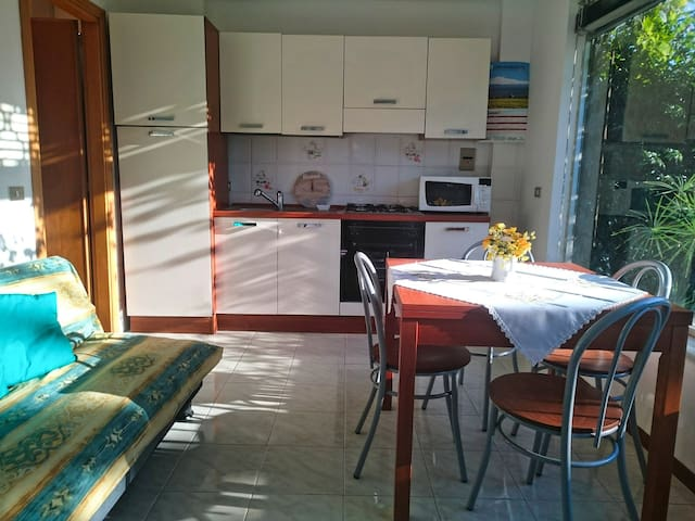 Apartment very close to the sea, with garden