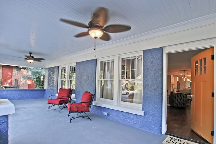 Ceiling Fans & Chairs to Relax Outdoors & People Watch