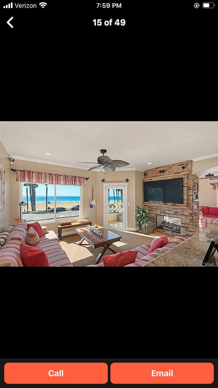 Oceanfront & views all rms! 2Bdr, + office, 2 bath