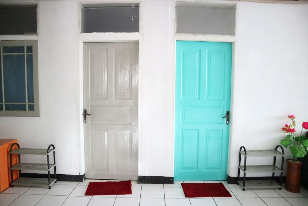 The door to the main room