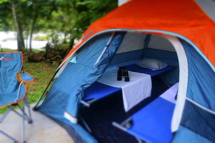 Zona de camping para 12 personas en Las Nubes.