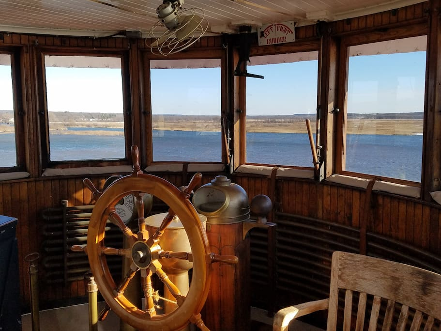 View from the pilot house