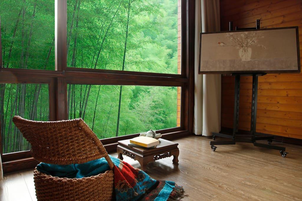 竹景景观大床房