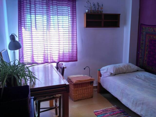 Habitación privada individual en casa compartida