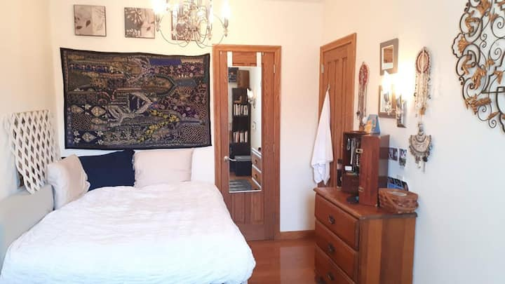 Large bedroom for WFH in luxury apt, near nature