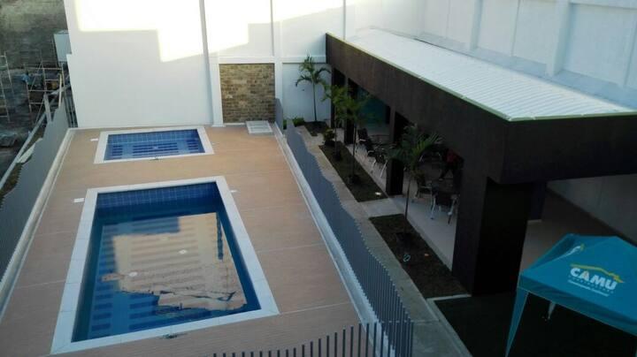 Apartamento amoblado con piscina en cartago valle.