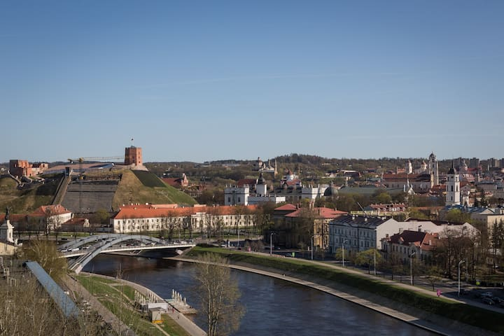 Vilnius Central location studio with town panorama