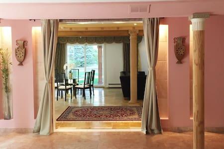 Bright upscale ground floor private large suite