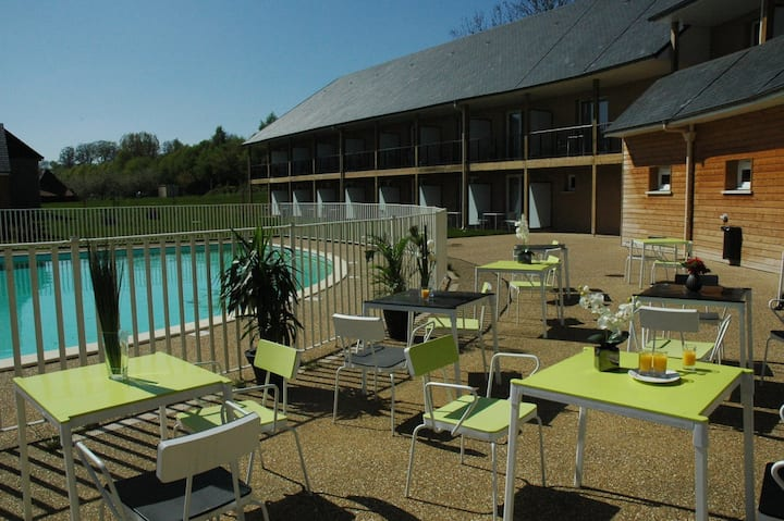 Appartement avec piscine proche Honfleur