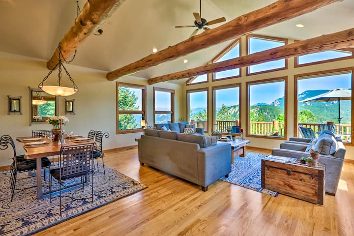 Spacious Mountain Lodge - Stunning panoramic views