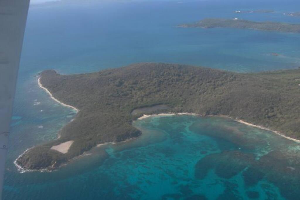 Aerial photo of Culebra