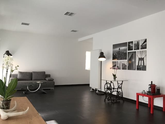 Modern loft apartment Altensteig Black Forest 86sm