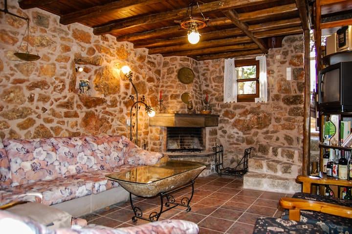 Stone House in medieval Greek village