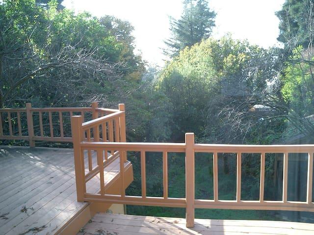 Quiet deck area facing Bay.