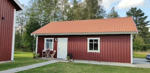 Cabin located in a traditionally Swedish setting!