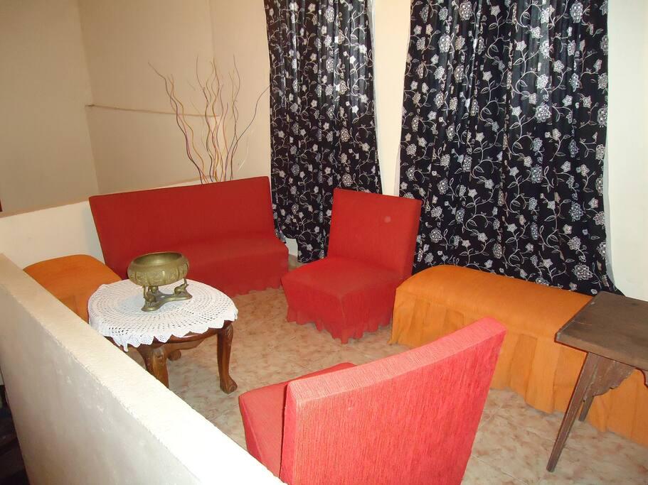 Guest lounge area.