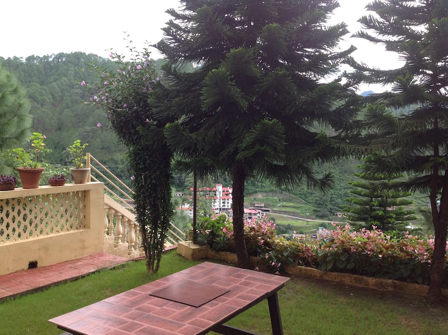 Enjoy the scenic beauty from our middle garden