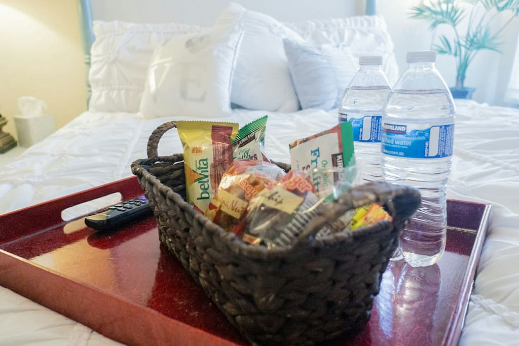 Welcome snacks (selection varies)