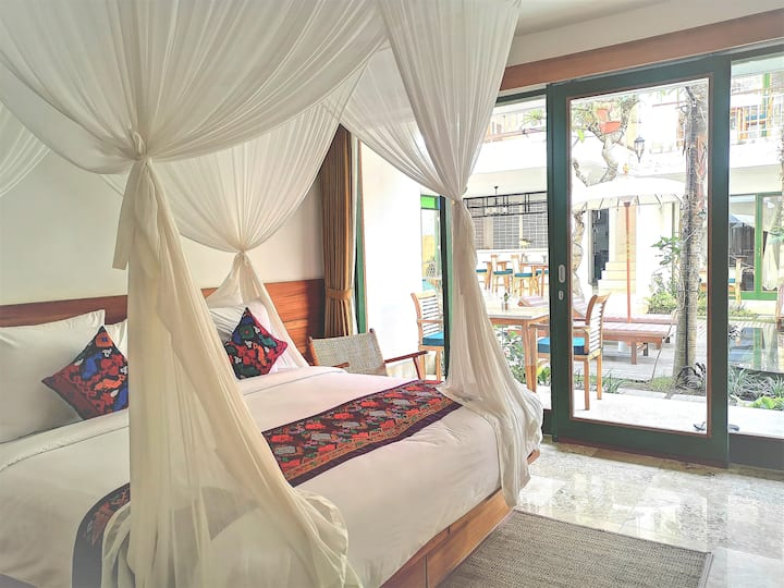 Beautiful Pool side Deluxe room near Yoga centre