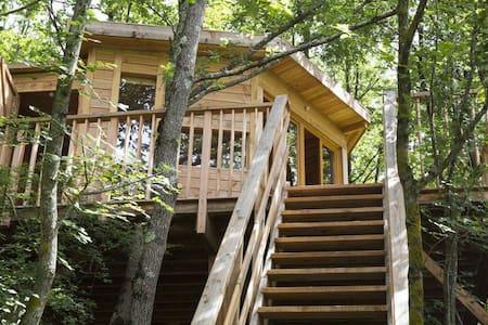 Cabane dans les arbres avec vue sur les Pyrénées - Saint-Victor-Rouzaud - Treehouse