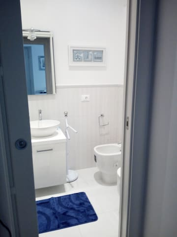first bathroom w