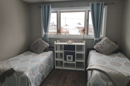 2 bedroom upper unit with separate entrance