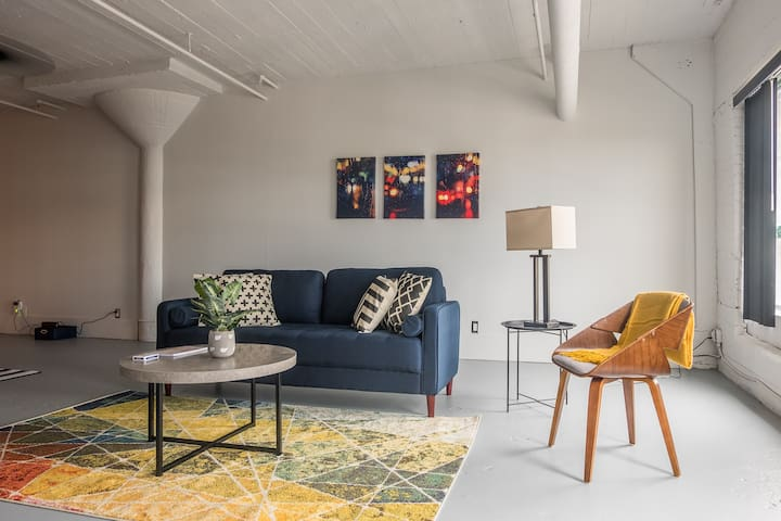 Bold + Open 1BR Apt Across From City Museum