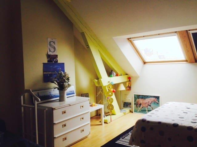 Studio à l'étage d'un appartement  sur Amiens.