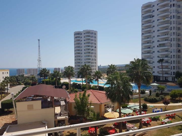 Appartement Erdemli/Mersin, piscine et vue sur mer