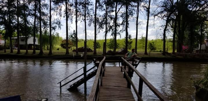 Cabaña Pecán en el Arroyo Rama Negra