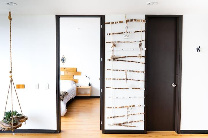 Zen Space, Etnic Furniture, bed room, bath room.