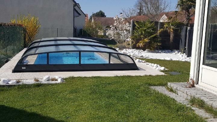 Chambre d'hote dans maison avec piscine chauffée
