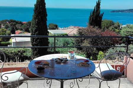 Room at the villa with great view next to Monaco - Cap-d'Ail