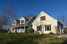 Perched on a hill atop 3 beautiful acres looking out into the Virginia countryside.