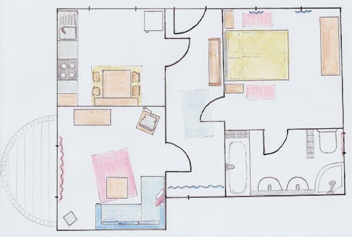 Haus zum Deich  - Ferienwohnung im Alten Land - Hollern-Twielenfleth - Apartemen
