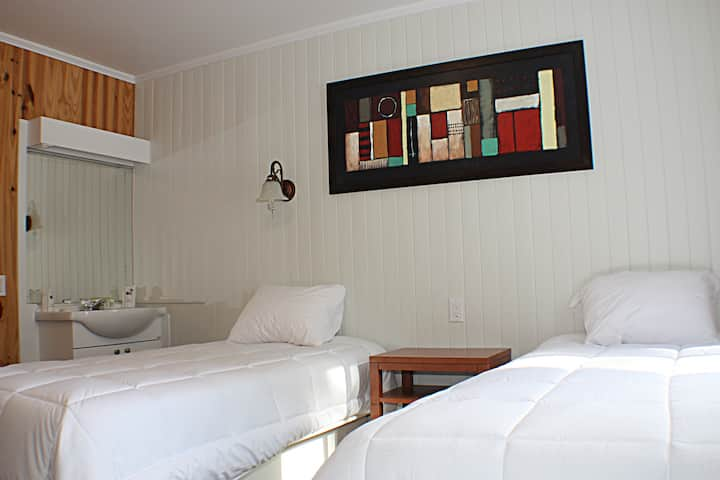 Auberge du Sportif - Chambre double style motel (de luxe) / 2 lits simples