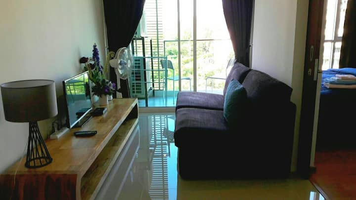 1BR Seaside Condo @HuaHin KhaoTakiab 300m to Beach