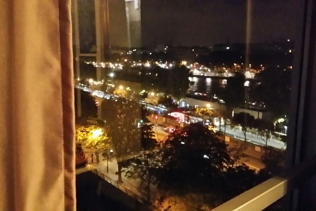 Watch the boats gently moving on the River Seine.