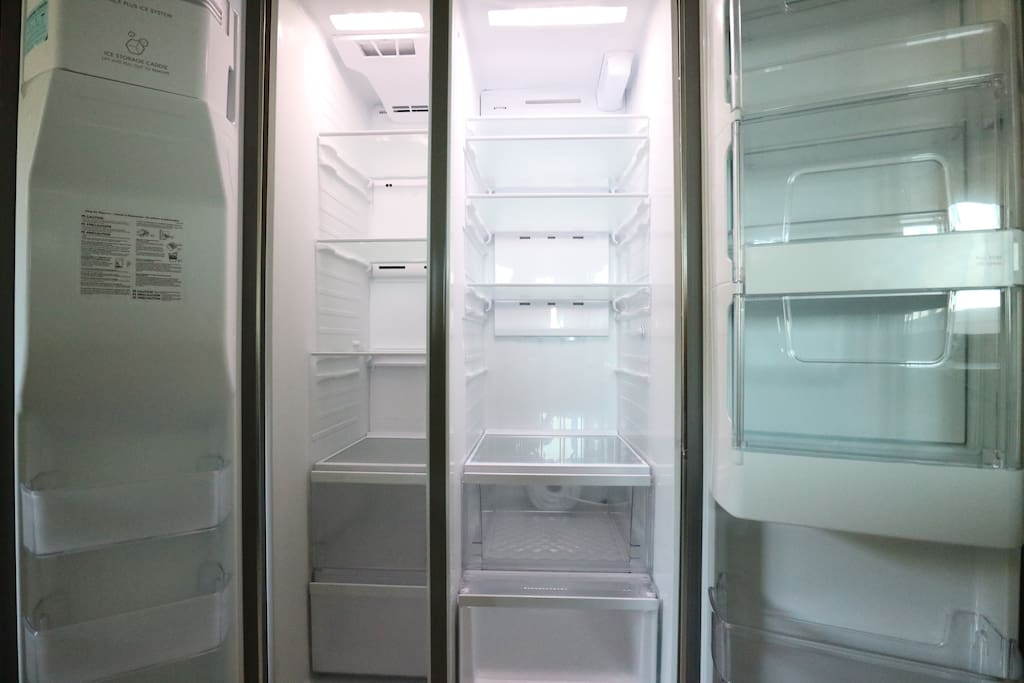 New clean refrigerator