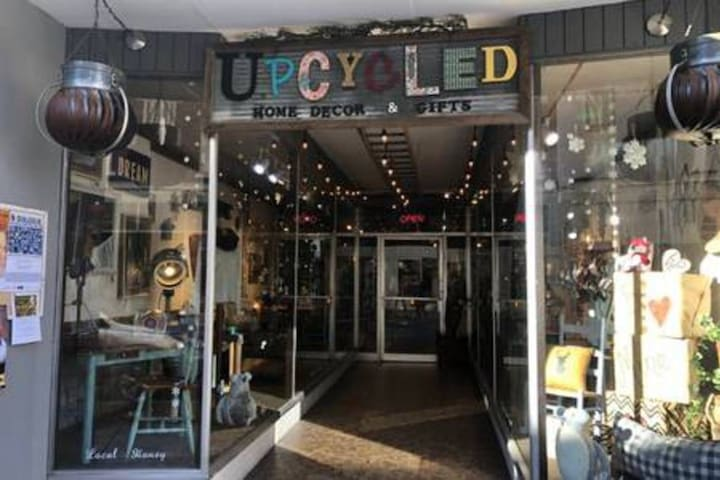 Cherish Every Moment's downtown storefront. Don't miss their incredible Upcycled Home Decor. And here's a tip-they do great custom work for great prices if you have something in mind!