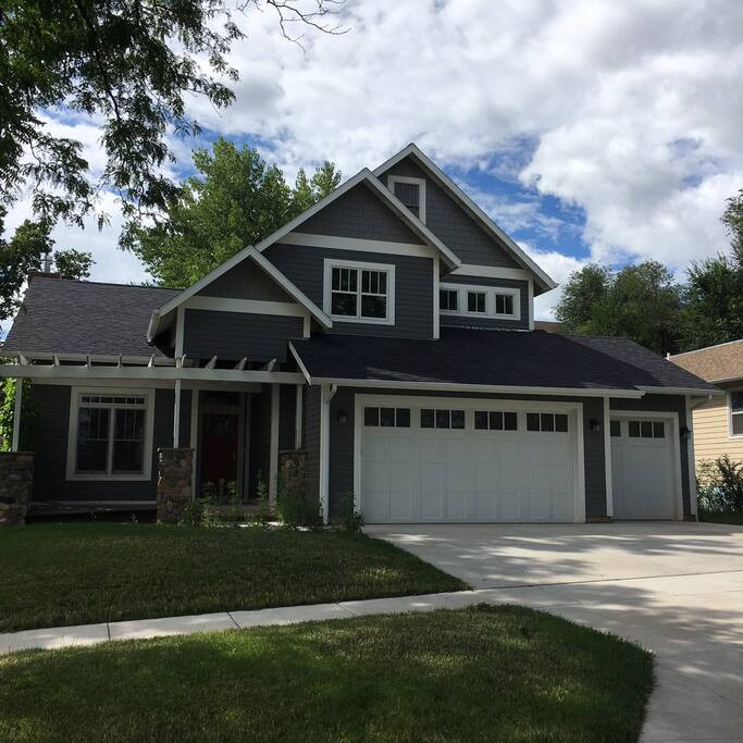 Built in the Craftsman style, a new house in an old neighborhood.  There's an extra stall in the garage for your car if you like.  Heated floors make it pretty cozy in the cold SD winters.