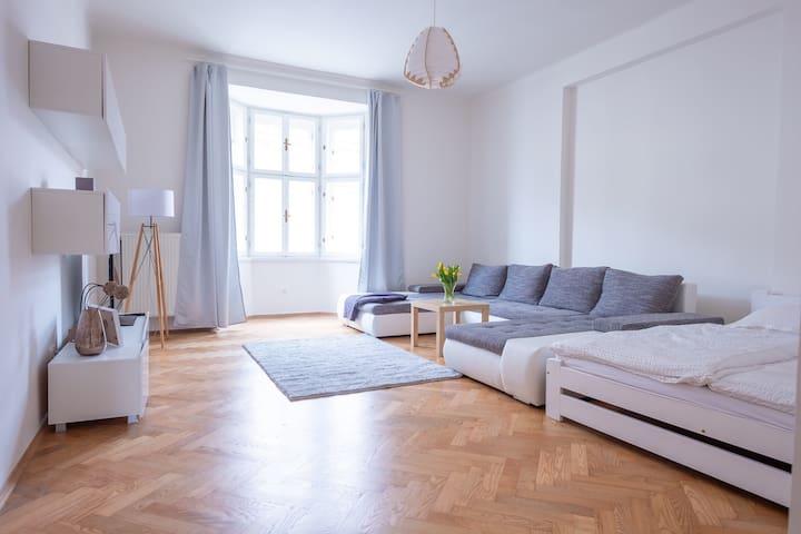Klidný a romantický byt v srdci věnného města