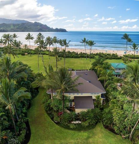 Gorgeous Beachfront Estate in Hanalei  - TVNC 5098