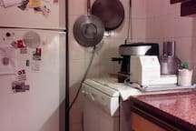 dishwasher and refrigerator with freezer