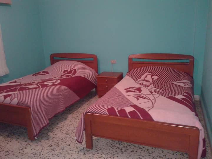 Bauhaus motel:22$ per person 5 floor room/shared